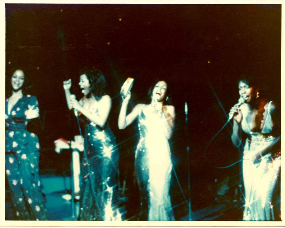 Name:  Florence on stage with Mary, Cindy and Scherrie.jpg Views: 430 Size:  70.0 KB
