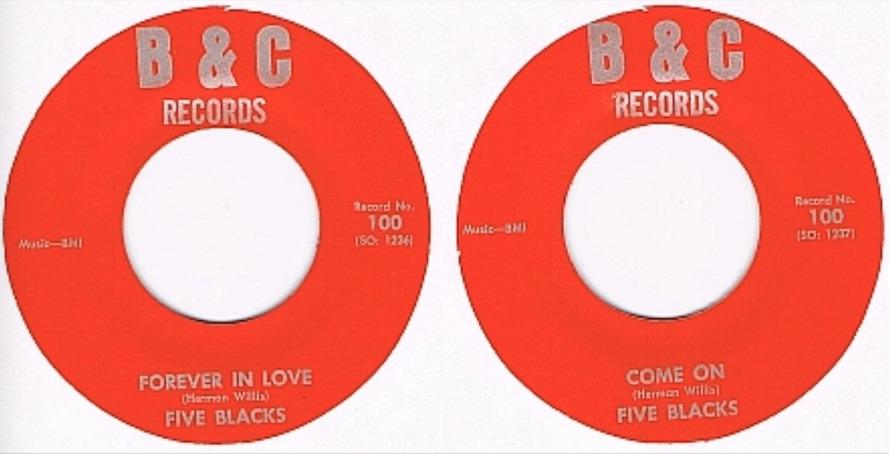 Name:  Five Blacks - Come On:Forever In Love.jpg Views: 94 Size:  82.0 KB